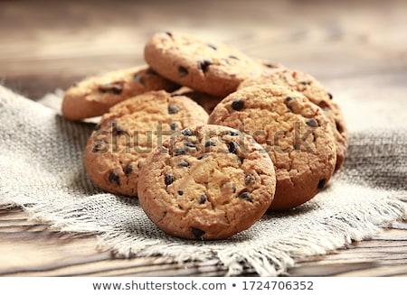 Stock fotó: Házi · készítésű · amerikai · csokoládé · chip · sütik · rusztikus
