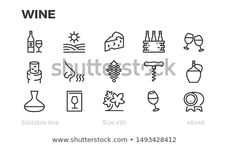 Icons with wineglasses Stock photo © bluering
