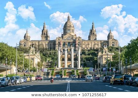 芸術 · 博物館 · バルセロナ · 噴水 · スペイン · 市 - ストックフォト © frimufilms