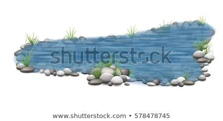 cottage on rocks isolated stock photo © fotoyou