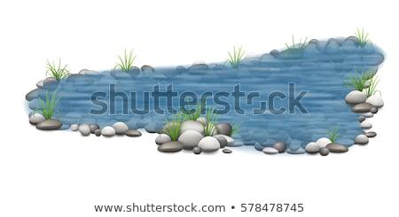 コテージ 岩 孤立した モデル 白 家 ストックフォト © FOTOYOU