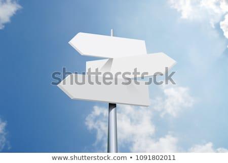 Directions indicator sign Stock photo © frimufilms