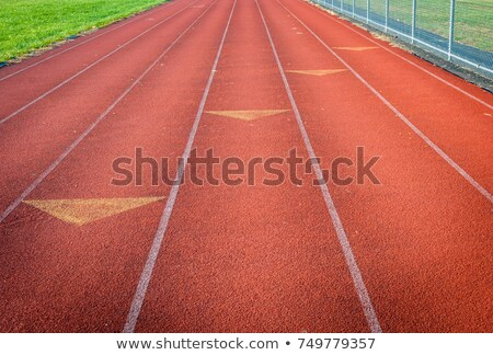 Red clay running track Stock photo © stevanovicigor