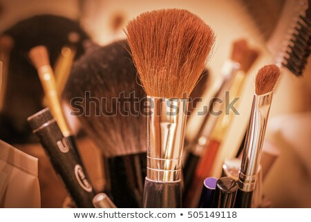 Professional makeup brushes and tools collection, make-up produc Stock photo © manera