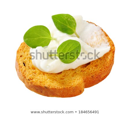 Mini bread rusks with cream cheese Stock photo © Digifoodstock