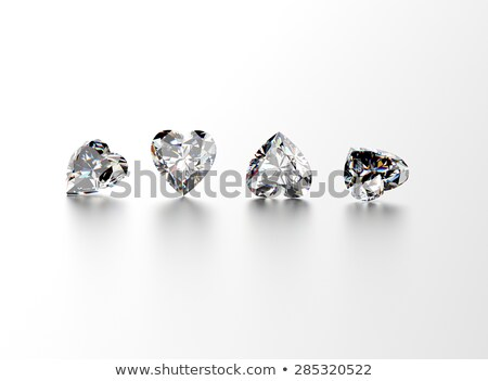 jewelry gemstones heart shaped isolated on white stock photo © pashabo