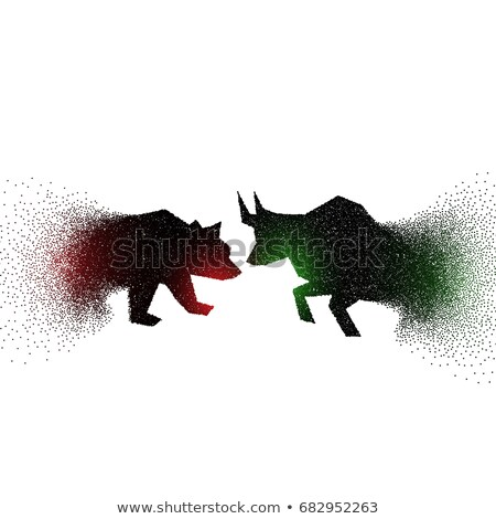 bull and bear concept design made with particles Stock photo © SArts