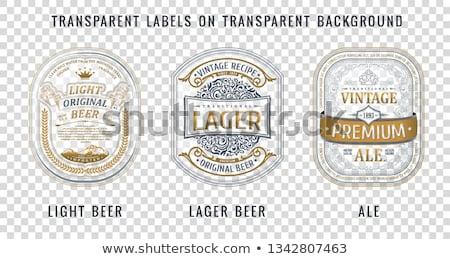 Vektor eredeti márka arany címke terv Stock fotó © SArts