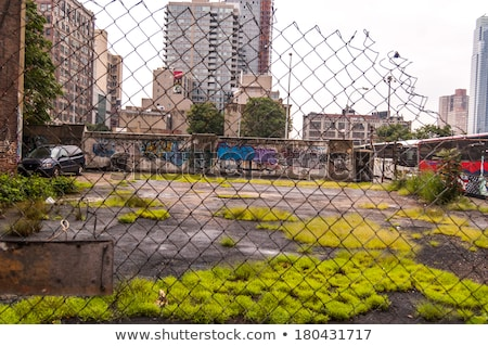 Buurt armoede beschadigd balkon venster Lissabon Stockfoto © luissantos84