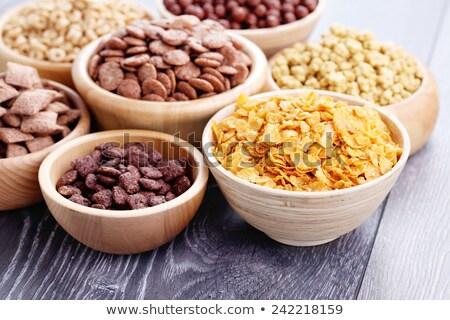 tál · vegyes · reggeli · gabonafélék · aszalt · gyümölcs - stock fotó © Digifoodstock