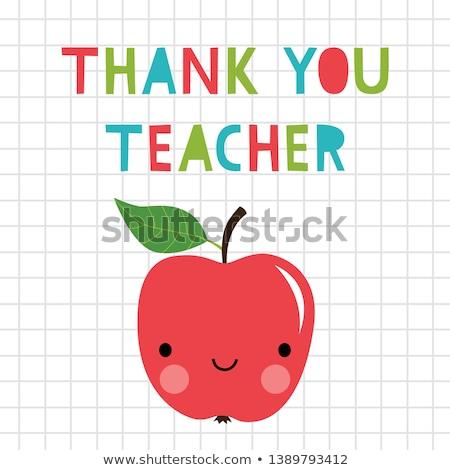 Tarjeta de felicitación maestro profesores día forma Foto stock © Olena