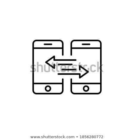 Biztonsági mentés adat kettő mobiltelefonok férfi üzlet Stock fotó © stevanovicigor