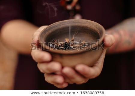 свечей высушите листьев таблице телефон Сток-фото © wavebreak_media