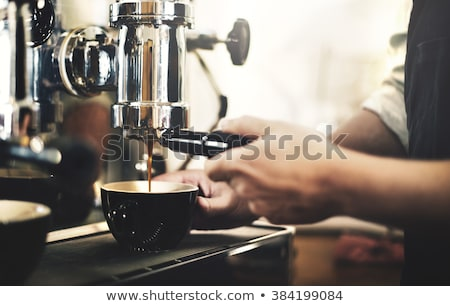 Foto stock: Cafe Workers Making Coffee