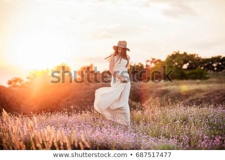Woman dancing in field Stock photo © IS2