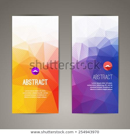 Afiş kapak origami form eller Stok fotoğraf © Olena