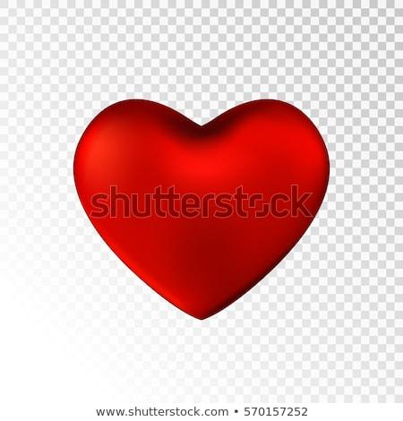 Eenvoudige Rood hart schaduw geïsoleerd icon Stockfoto © studioworkstock