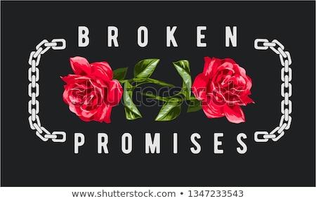 broken promises concept Illustrator. design graphic Stock photo © alexmillos
