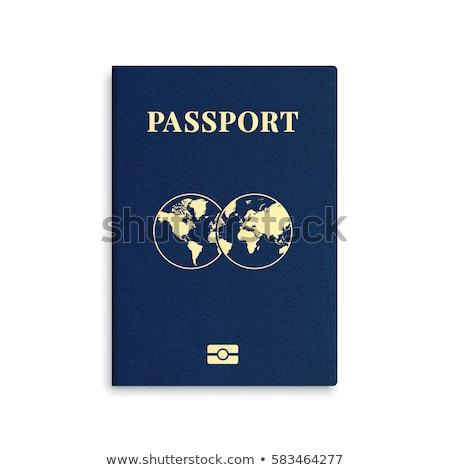 международных паспорта синий охватывать официальный документа Сток-фото © LoopAll