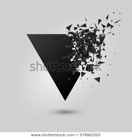 Soyut üçgen biçim Stok fotoğraf © SArts