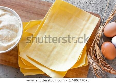 nyers · lasagna · közelkép · makró · senki · konyha - stock fotó © dash