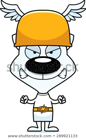 cartoon angry hermes kitten stock photo © cthoman