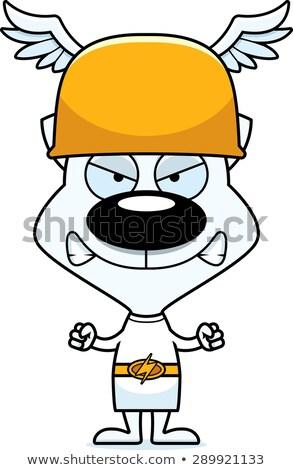 Cartoon Angry Hermes Kitten Stock photo © cthoman