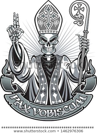 Ijedt rajz pápa illusztráció néz férfiak Stock fotó © cthoman