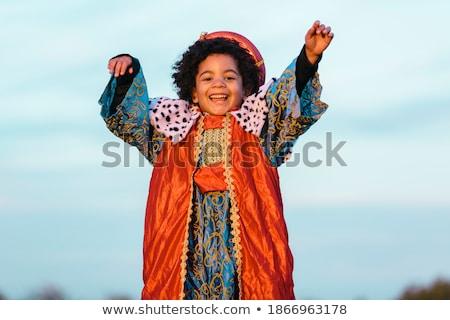 Fiú Jézus jelmez Biblia történet illusztráció Stock fotó © lenm