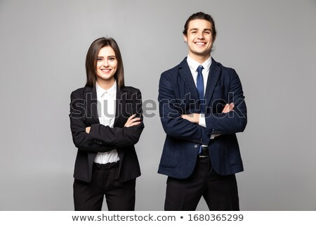 üzleti · partnerek · izolált · fehér · üzlet · férfi · megbeszélés - stock fotó © Minervastock