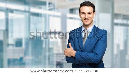 jóképű · menedzser · portré · üzlet · férfi · munka - stock fotó © Minervastock