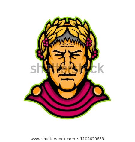 Sezar maskot ikon örnek kafa Roma Stok fotoğraf © patrimonio