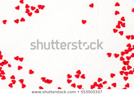 Cuori confetti bianco vettore ripetibile pattern Foto d'archivio © biv