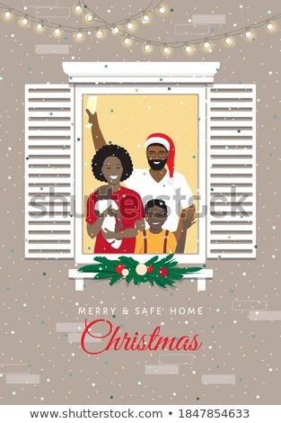 champagne · vetro · Natale · celebrazione · illustrazione · bottiglia - foto d'archivio © robuart