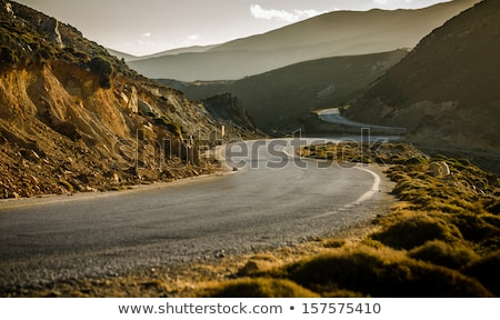 Scene with rocky mountain and road Stock photo © colematt