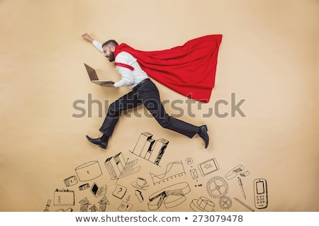 Man Working in Office, Business Superman Male Hero Stock photo © robuart