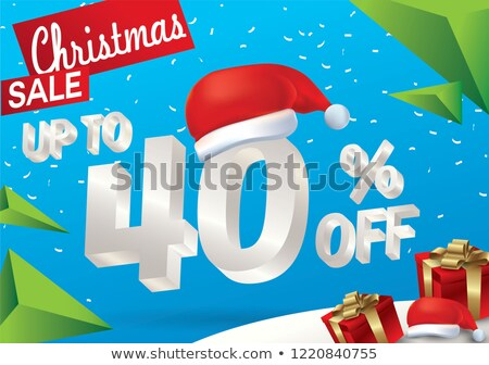 Рождества продажи 40 процент праздник Сток-фото © robuart