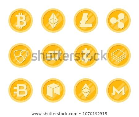 Crupto Coins Icons Set. Stock photo © smoki