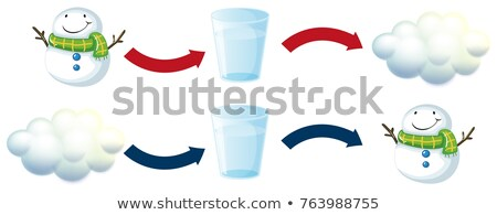 Diagram mutat hóember édesvíz illusztráció víz Stock fotó © colematt