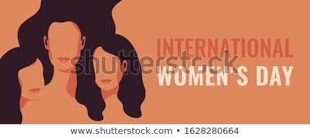 Boldog nőnap ünnep lány arc nők Stock fotó © SArts