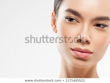 Güzel kız temizlemek taze cilt cilt bakımı Stok fotoğraf © Nobilior