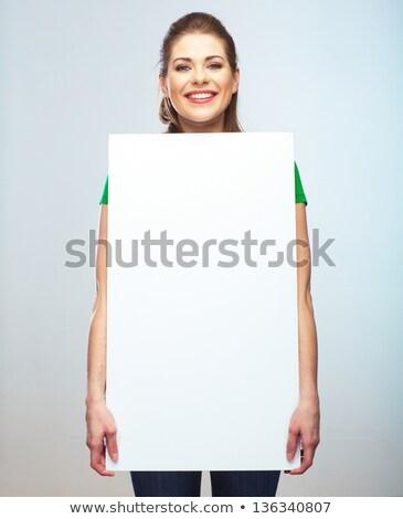сидящий деловая женщина совета вверх Сток-фото © feedough