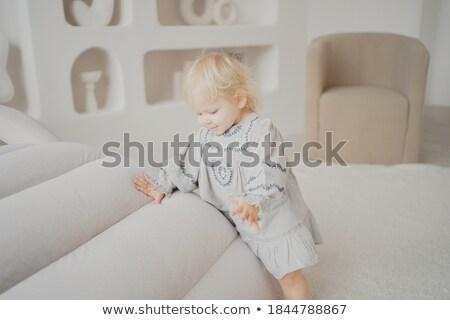 szoba · modern · stílusú · padlás · ágy · gyerekek · fény - stock fotó © konradbak