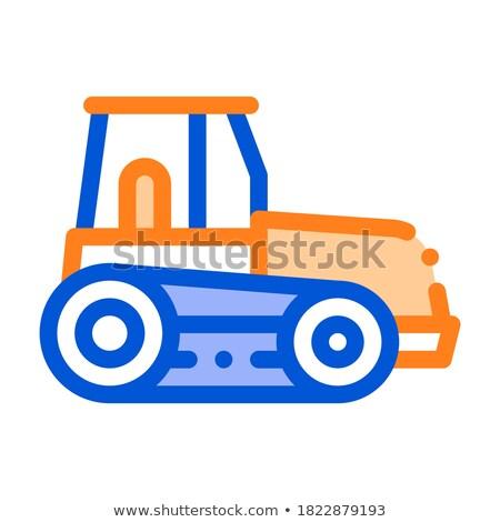 Trator máquina tubo isolado ícone vetor Foto stock © robuart