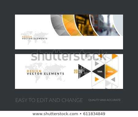 üzlet irányítás szalag fejléc üzletember laptop Stock fotó © RAStudio