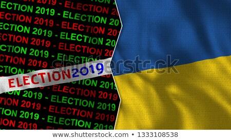 Seçim Ukrayna bayrak rozet yalıtılmış beyaz Stok fotoğraf © Oakozhan