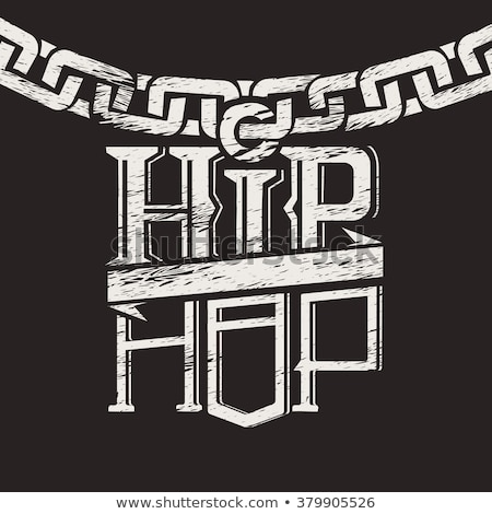 Muziek hip hop zanger microfoon spreker Stockfoto © RAStudio