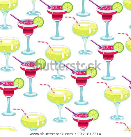 Cocktails Poured in Glasses Party Seamless Pattern Stock photo © robuart