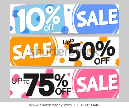 Spring Big Offer 50 Off Discount Advertisement Tag Stock photo © robuart