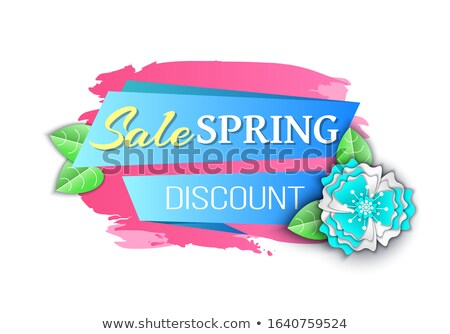 Big Spring Discount Reduced Price Seasonal Offer Stock photo © robuart